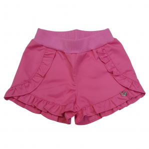 Short Infantil Verão Mon Sucré 17004 Tropical Fruits Rosa