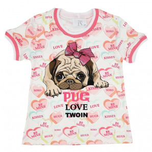 T-shirt Pug Love TwoIn 789011